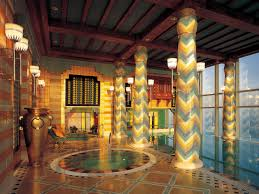 Pillars Decoration In Homes by Indoor Pools