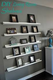 Living Room Wall Shelving by Gallery Wall Shelves Another Project For Hubby Home Pinterest