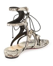 christian louboutin lace up satin sandals cheap replica christian