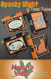 Halloween Gift Wrap - wrap and decorate treat tubes for any occasion using this simple