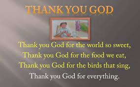 rhymes poem thank you god