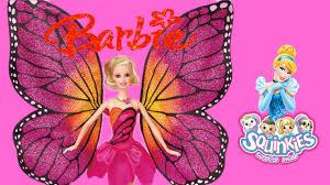 barbie mariposa fairy princess disney cinderella squinkies