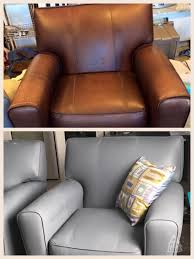 Faux Leather Paint - i painted worn faux leather chairs wiped down with acetone the