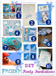 make your own frozen invitations theruntime com