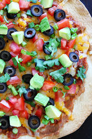 round table taco pizza mexican pizza easy tortilla crust two peas their pod