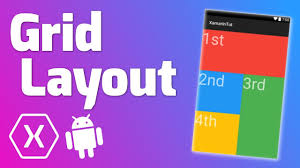 grid layout for android grid layout quick tutorial xamarin android youtube