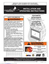 Fireplace Installation Instructions by Continental Fireplaces Cdv36ntr Manuals