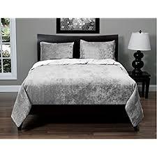 amazon com luxury crushed velvet modern quilt duvet cover bedding