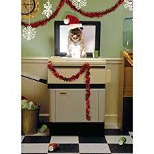 funny pug dog on copier single christmas card by avanti
