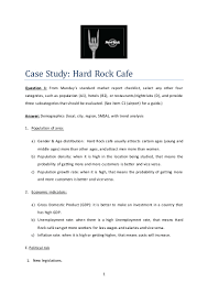 case study hard rock cafe