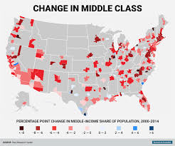 Map Of The United States Of America With Cities by Pew Research Center Metro Area Middle Class Business Insider
