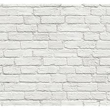 muriva painted white brick wallpaper amazon com