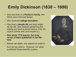 emily dickinson biography death ed1