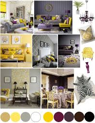 Yellow And Grey Bedroom by Color Palette Yellow And Plum Bedrooms Purple And Gray