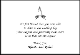 wedding quotes hindu thank you cards thank you card wordings
