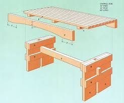 patio bench plans treenovation