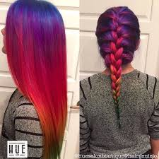 rainbow color hair ideas rainbow hair straight and braided pictures photos and images for