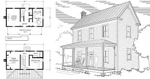 farmhouse house plan two 16 x 32 virginia farmhouse house plans project small