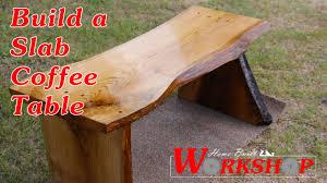 Oak Slab Table by How To Build An Oak Slab Coffee Table Youtube