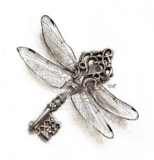key of the dragonfly by cassandrareitzig tattoos