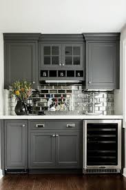 Kitchen With Mosaic Backsplash by Tour A Home That Checks All Our Favorite Design Trend Boxes Gray