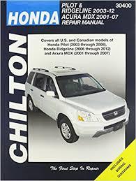 honda car manual chilton total car care honda pilot 03 08 ridgeline 06 12