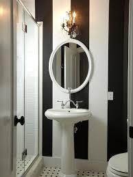 Black And White Wallpaper For Bathrooms - black white striped wallpaper houzz