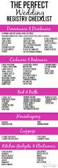 What To Put On Wedding Programs The Perfect Wedding Registry Checklist Perfect Wedding Weddings