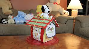 snoopy u0027s doghouse diaper cake how to make youtube