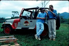 jurassic park car jurassic park behind the scenes pictures