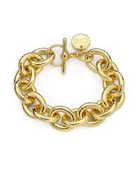 1ar by unoaerre 1ar by unoaerre oval link bracelet in metallic lyst