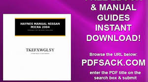 nissan micra owners manual pdf haynes manual nissan micra 2004 video dailymotion