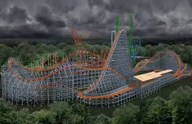 Six Flags Parking New Hybrid Roller Coaster U201cwicked Cyclone U201d Opens At Six Flags New