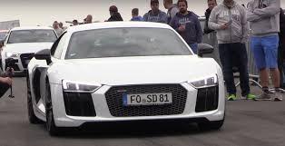 Audi R8 Rental - german kids use new audi r8 to pull gold digger prank on a man