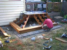 Corner Deck Stairs Design How To Build Deck Stairs Basic And Useful Ideas