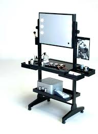 portable lighting for makeup artists peachy design portable makeup vanity with lights desks table