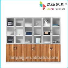 Pine Wood Bookshelf Solid Wood Office Cabinet Modular Office Filing Cabinet Bookcase