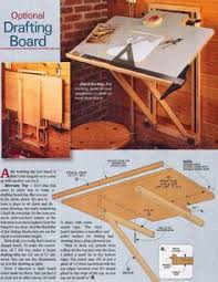 Drafting Table Storage Fold Down Drafting Table Plans Workshop Solutions Plans Tips