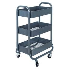 Bathroom Cart On Wheels by 3 Tier Rolling Cart Gray Room Essentials Target