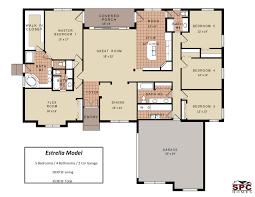 floor plans for 4 bedroom houses single 4 bedroom house plans modern 3 one bath mediterranean