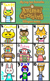 Animal Crossing Villager Meme - my top 10 animal crossing villagers by sword wielding gamer on