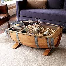 Wine Coffee Table Recycled Barrel Coffee Table 17450 Kitchen Dining