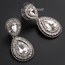 Huge Chandelier Earrings Big Chandelier Rhinestone Earrings Thesecretconsul Com