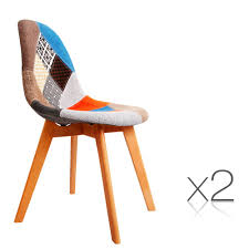 set of 2 replica eames dining chairs fabric wholesales direct