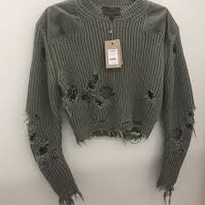 yeezy sweater 33 yeezy sweaters yeezy season 3 destroyed cropped sweater