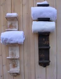 Bathroom Towel Hanging Ideas Bath Bathroom Towel Storage Holder Bath Decor Wood