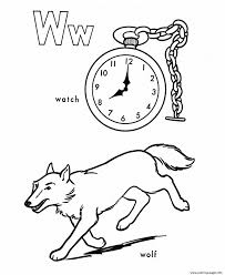 wolf and watch free alphabet coloring pages printable