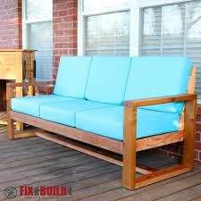 White Modern Outdoor Furniture by Ana White Modern Outdoor Sofa Diy Projects