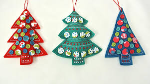 green vintage fabric button christmas tree decoration by gisela graham