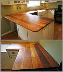 Wood Countertops Kitchen by How To Create Faux Reclaimed Wood Countertops Wren Woods And